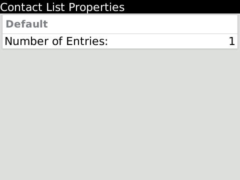 Contacts count for selected list