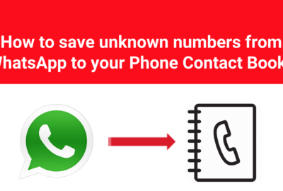 Save whatsapp number to phone book