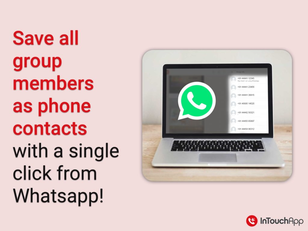 WhatsApp group members to phone contacts